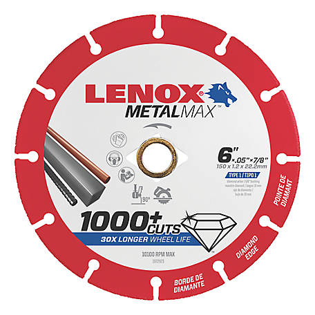 Lenox METALMAX Diamond Edge Cutoff Wheel, 6x7/8 in.