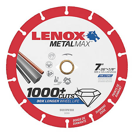 Lenox METALMAX Diamond Edge Cutoff Wheel, 7x7/8 in.