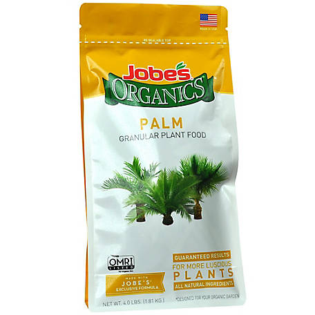 Jobe's Organic Granular Palm Plant Food with Biozome 4 lb., 9126