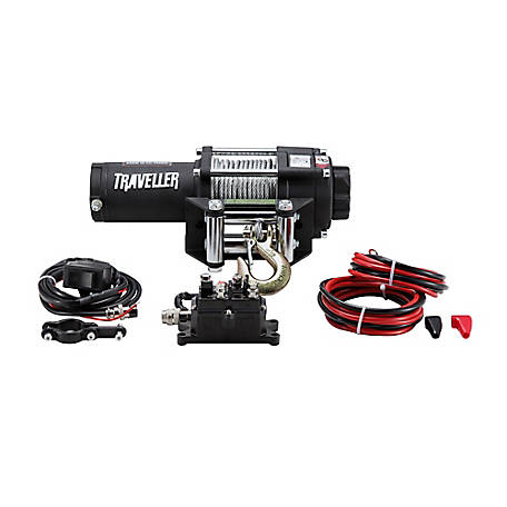 Traveller 12V ATV Electric Winch, 3,500 lb. Capacity