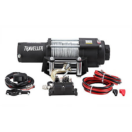 Traveller 12V UTV Electric Winch, 4,500 lb. Capacity at Tractor Supply on wire rope hoist wiring diagram, utv horn wiring diagram, solenoid switch wiring diagram, polaris ranger wiring diagram,