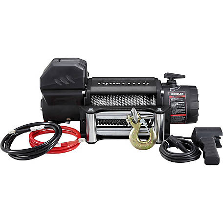 traveller 12v truck electric winch, 12,000 lb  capacity