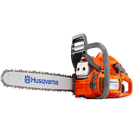 Husqvarna 450E Rancher 20 in. 50.2cc 2-Cycle Gas Chainsaw, 967651201