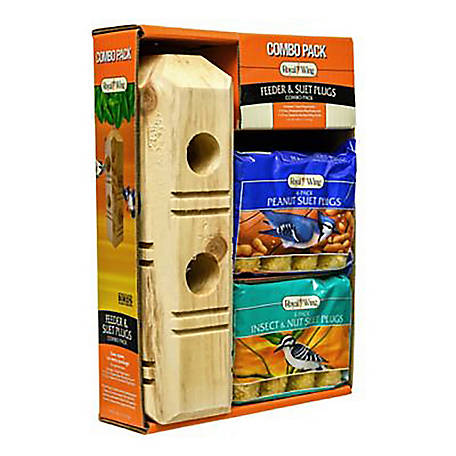 Royal Wing Feeder & Suet Plugs Combo Pack