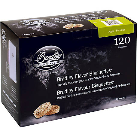 Bradley Smoker Flavor Bisquettes, Apple 120-Pack