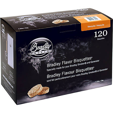 Bradley Smoker Flavor Bisquettes, Mesquite 120-Pack