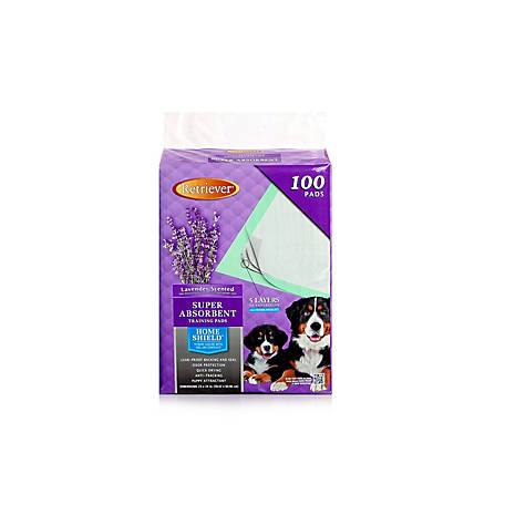 Retriever Lavender Scented Super Absorbent Pet Training and Puppy Pads with Home Shield - Pack of 100