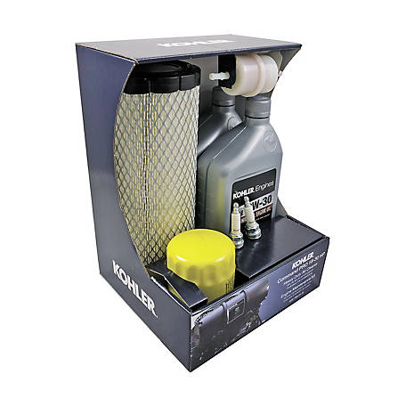 Kohler Engine Maintenance Kit for Command Pro with Heavy-Duty Air Filter