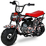 Monster Moto American Flag Mini Bike 105cc with Mag Wheels