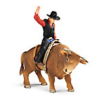 Schleich Cowboy with Bull
