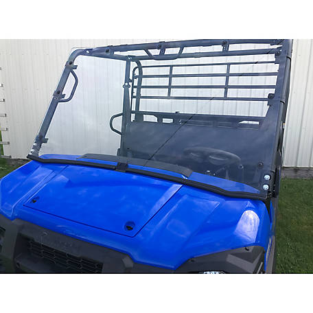 Extreme Metal Products Kawasaki Mule PRO-FX/FXT Hard-Coated Full Windshield