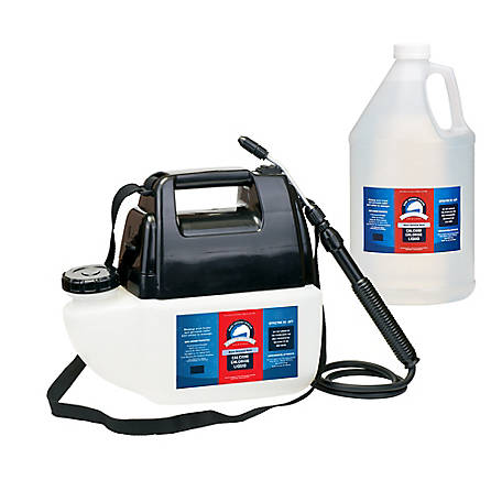 Bare Ground Winter Battery-Powered Sprayer with 1 gal. Bolt Calcium Chloride Liquid De-Icer, BGBPS-1C