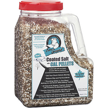 Bare Ground Winter Coated Granular Blend with Calcium Chloride Pellets, 12 lb. Jug, BGCSCA-12