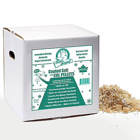 Bare Ground Winter Coated Granular Ice Melt with Calcium Chloride Pellets, 40 lb. Box, BGCSCA-40