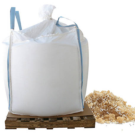 Bare Ground Winter Tri-Blend Coated Granular Ice Melt with Calcium Chloride Pellets, 2000 lb. Skidded Supersack, BGCSCA-2000