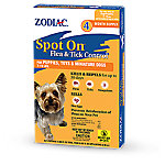 Zodiac Spot On Flea & Tick Control for Dogs and Puppies 7-15 lb., Pack of 4