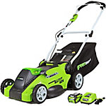 Greenworks 25322 G-MAX 40V 16 in. 2-in-1 Cordless Lawn Mower, 4Ah Battery and Charger Included