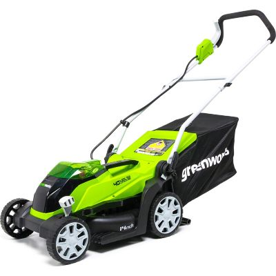 Greenworks MO40B00 G-MAX 40V 14 in. 2-in-1 Mower (Battery and Charger Not Included)