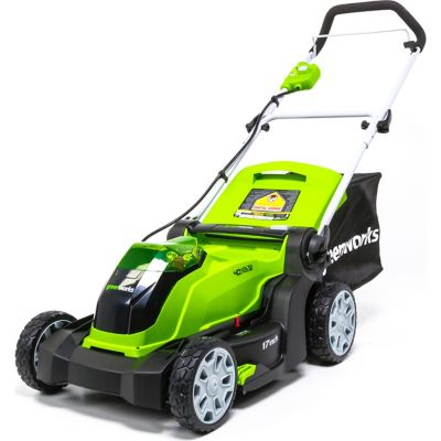 Buy Greenworks MO40B01 G-MAX 40V 17 in. 2-in-1 Mower (Battery and Charger Not Included) Online