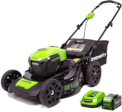 Buy Greenworks MO40L01 G-MAX 40V 21 in. Brushless Dual-Port 3-in-1 Mower (Battery and Charger Not Included) Online