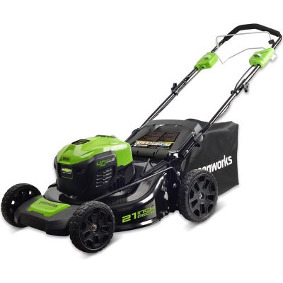 Greenworks MO40L02 G-MAX 40V 21 in. Self-Propelled Dual Port 3-in-1 Mower (Battery and Charger Not Included)