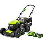 Greenworks MO40L2512 G-MAX 40V 21 in. Brushless 3-in-1 Mower with Two 2.5Ah Batteries and Charger