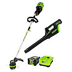 Greenworks Pro STBA80L210 80V Cordless String Trimmer and Blower Combo with 2Ah Battery and Charger