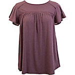 Olivia Sky Women's Flutter Short Sleeve Neck Knit Top with Trim and Keyhole Back
