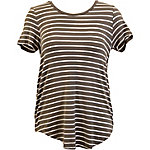 Olivia Sky Women's Stripe Scoop Neck Knit Top