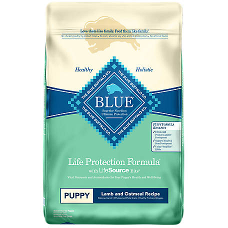 Blue Buffalo Life Protection Lamb & Oatmeal Recipe Puppy Dry Dog Food, 30 lb.