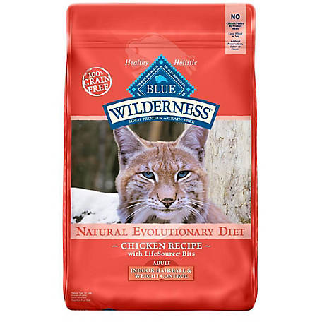 Blue Buffalo Wilderness Adult Indoor Hairball & Weight Control Dry Cat Food, 11 lb.