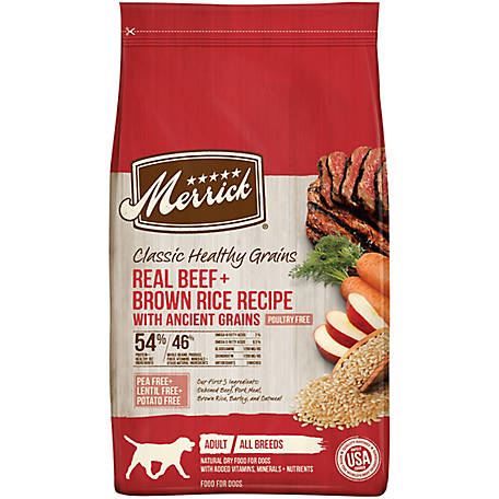 Merrick Classic Real Beef + Brown Rice Recipe with Ancient Grains 25 lb.