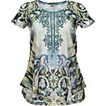 Live & Let Live Women's Short Sleeve Printed Bling Top