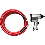 JobSmart 3/8 in. x 50 ft. PVC Air Hose & Impact Wrench
