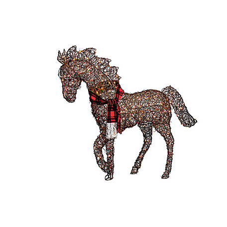 red shed light up horse christmas lawn ornament at tractor supply co