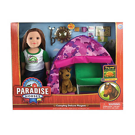 Paradise Horses 18 in. Doll Camping Set, TSC8957