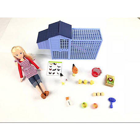 Paradise Horses 10 in. Doll, Chicken Coop Set