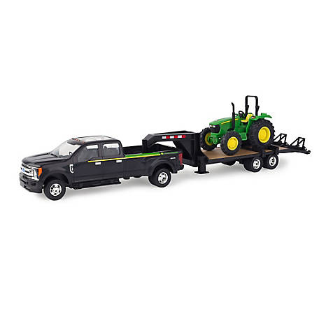 John Deere 1:32 Ford Pickup With Trailer & Tractor