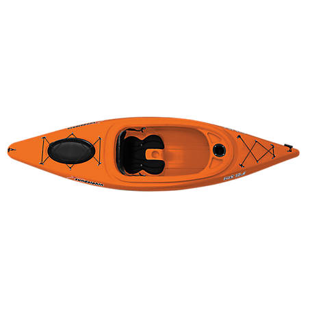 Sun Dolphin Trek 10 Sit-In Kayak with Paddle, Tangerine, 53302-TSC