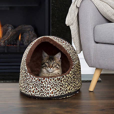 Marvelous Petmaker Cozy Canopy Pet Cave Bed Cheetah Print At Tractor Supply Co Customarchery Wood Chair Design Ideas Customarcherynet