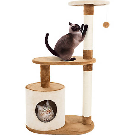 Petmaker 3-Tier Sleep and Play Cat Tree Condo, 37.5 in. H