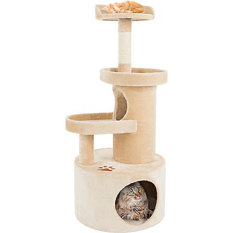 Petmaker 4-Tier Sleep and Play Cat Tree Condo with Tunnel, 43 in. H
