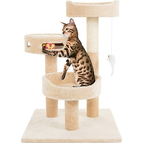 Petmaker Sleep and Play 3-Tier Cat Tree, 27.5 in. H