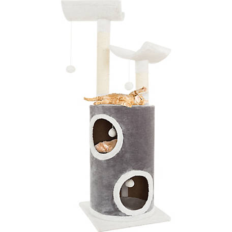 Petmaker Sleep and Play 5-Tier Cat Tree with Double Decker Condo, 44.75 in. H