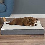 Petmaker Orthopedic Sherpa Top Pet Bed with Memory Foam and Removable Cover