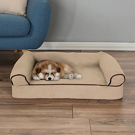 Petmaker Orthopedic Pet Sofa Bed With Memory Foam And Foam Stuffed Bolsters