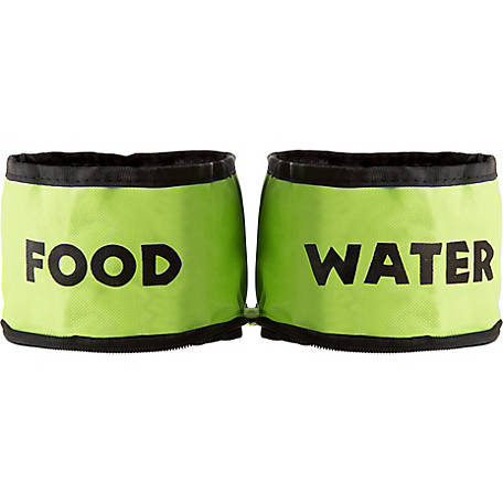 Petmaker Collapsible Travel Pet Bowl, Pack of 2