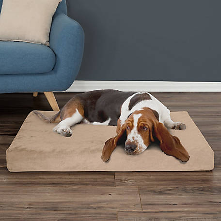 Petmaker Orthopedic Pet Bed with Egg Crate and Memory Foam with Washable Cover, Tan