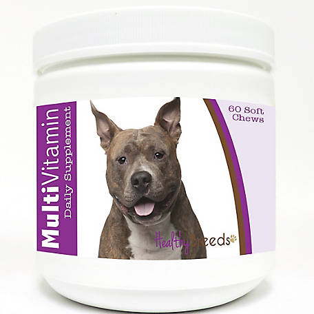 Healthy Breeds American Staffordshire Terrier Multi-Vitamin Soft Chews, Pack of 60