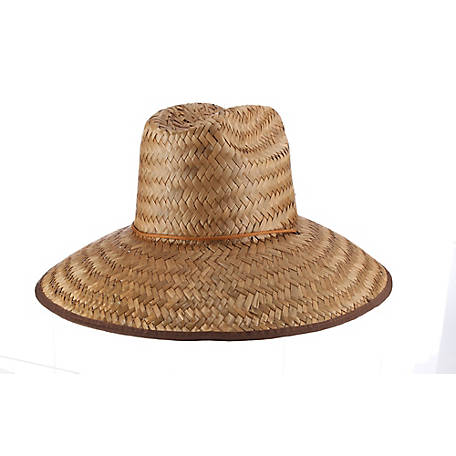 Milano Straw Lifeguard with String Chin Cord with Black Plastic Toggle Hat